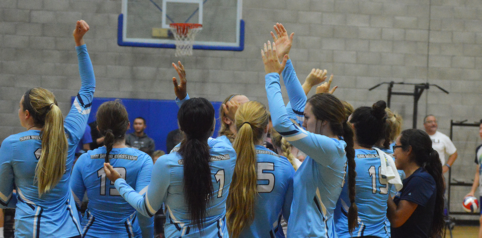 Photo for No. 3 Westmont Defeats Hawks in Straight Sets