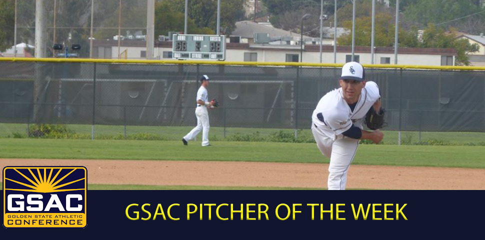 Photo for Jerry Quemada Earns GSAC Pitcher of the Week Award