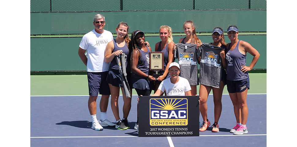 Photo for No. 6 Women's Tennis Claims First-Ever GSAC Championship Title